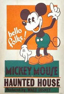 Affiche Poster haunted house mickey disney