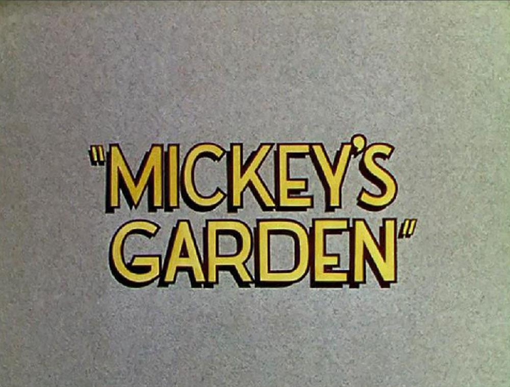 Affiche Poster jardin mickey garden disney