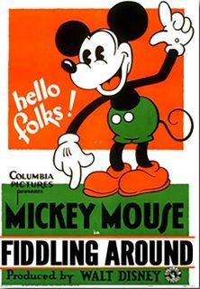 Affiche Poster just mickey fiddling around disney