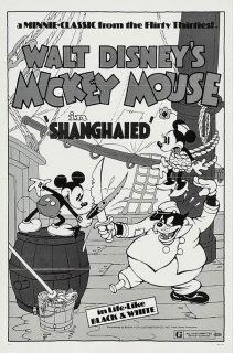 Affiche Poster marin malgré lui shanghaied mickey disney