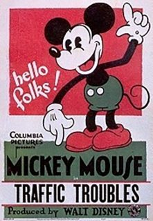 Affiche Poster mickey embouteillage traffic troubles disney