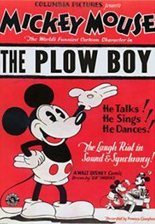 Affiche Poster mickey laboureur plow boy disney