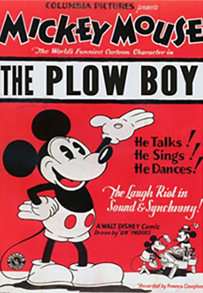Affiche Poster mickey laboureur plow boy disney
