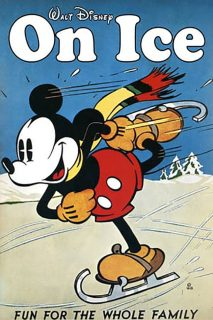 Affiche Poster mickey on ice patine disney