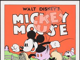 Affiche Poster olympiques rustiques barnyard olympics disney mickey