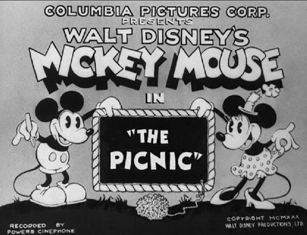 Affiche Poster pique-nique picnic mickey disney