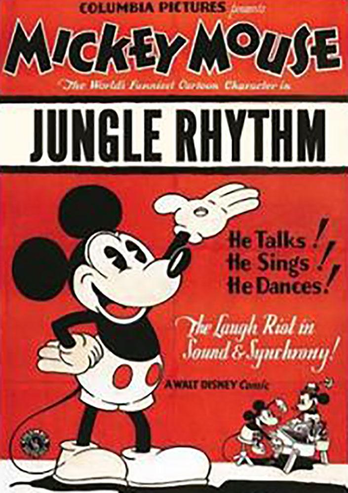 Affiche Poster rythme jungle rhythm mickey disney