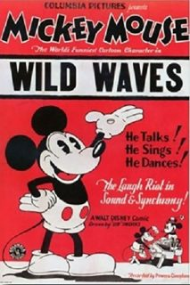 Affiche Poster vagues sauvages wild waves mickey disney
