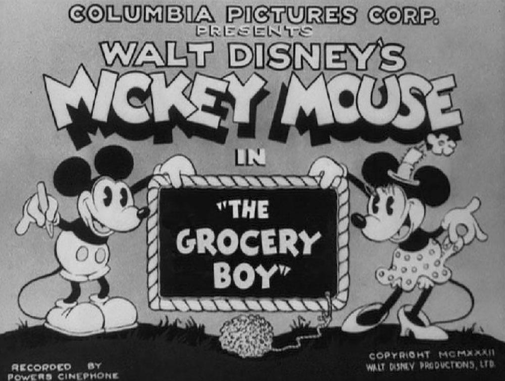 Affiche Poster épicier grocery boy mickey