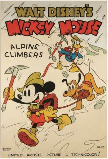 Affiche Poster alpiniste alpine climbers mickey