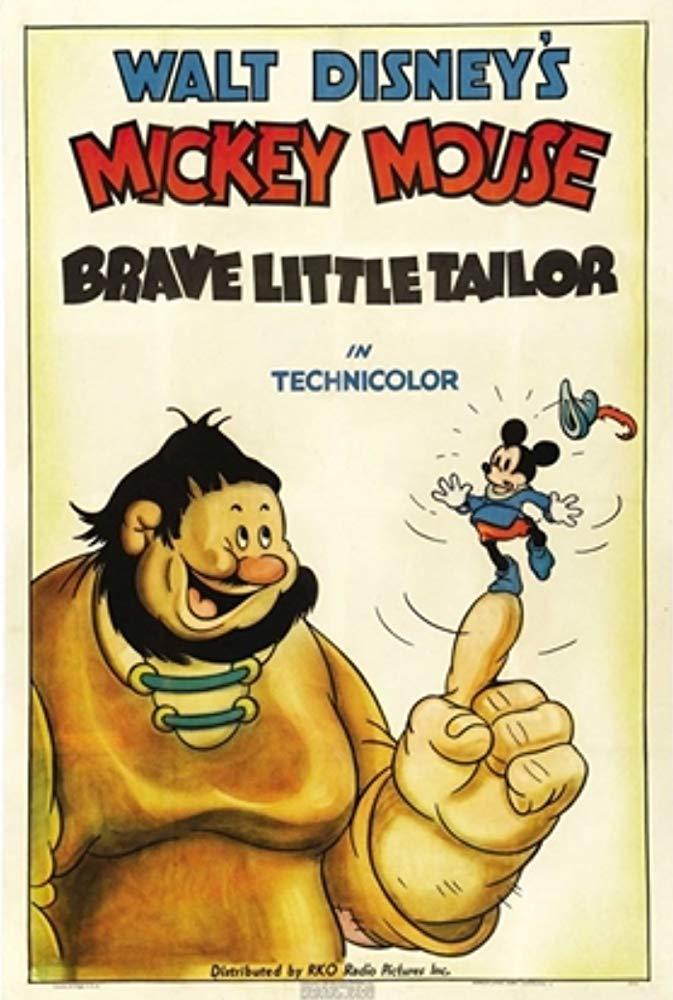 Affiche poster brave petit tailleur brave tailor mickey disney