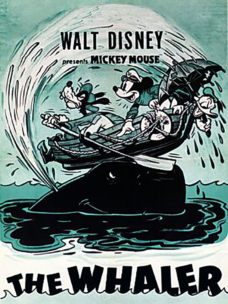 Affiche poster chasseurs baleines whalers mickey disney