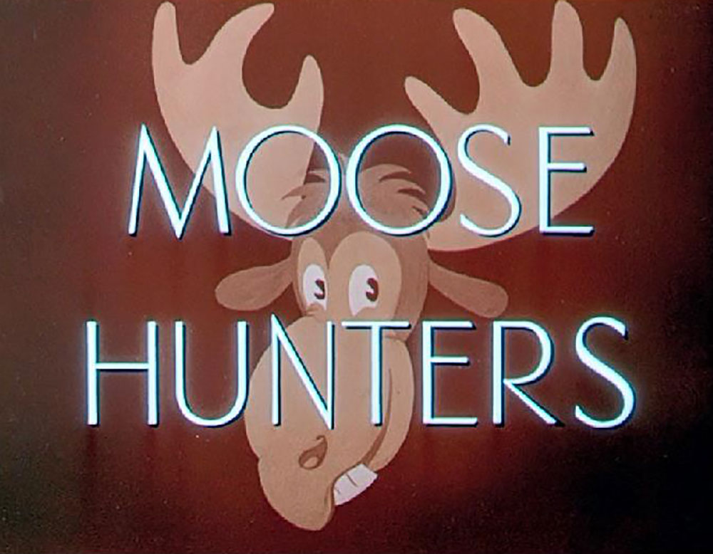 Affiche Poster chasseurs élans moose hunters disney mickey
