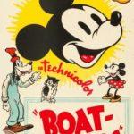 Affiche Poster constructeurs bateau boat builders mickey disney