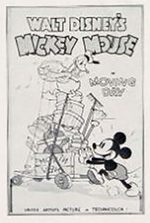 Affiche Poster déménagement moving day mickey