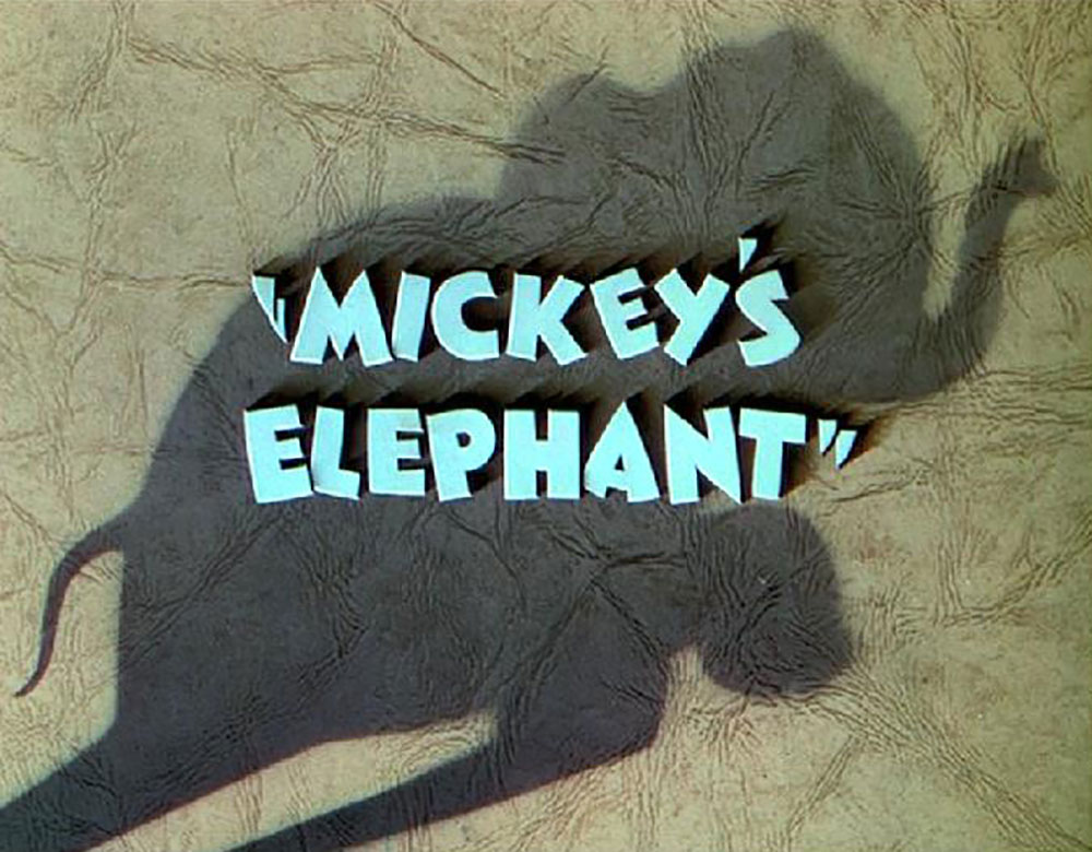 Affiche Poster elephant mickey disney