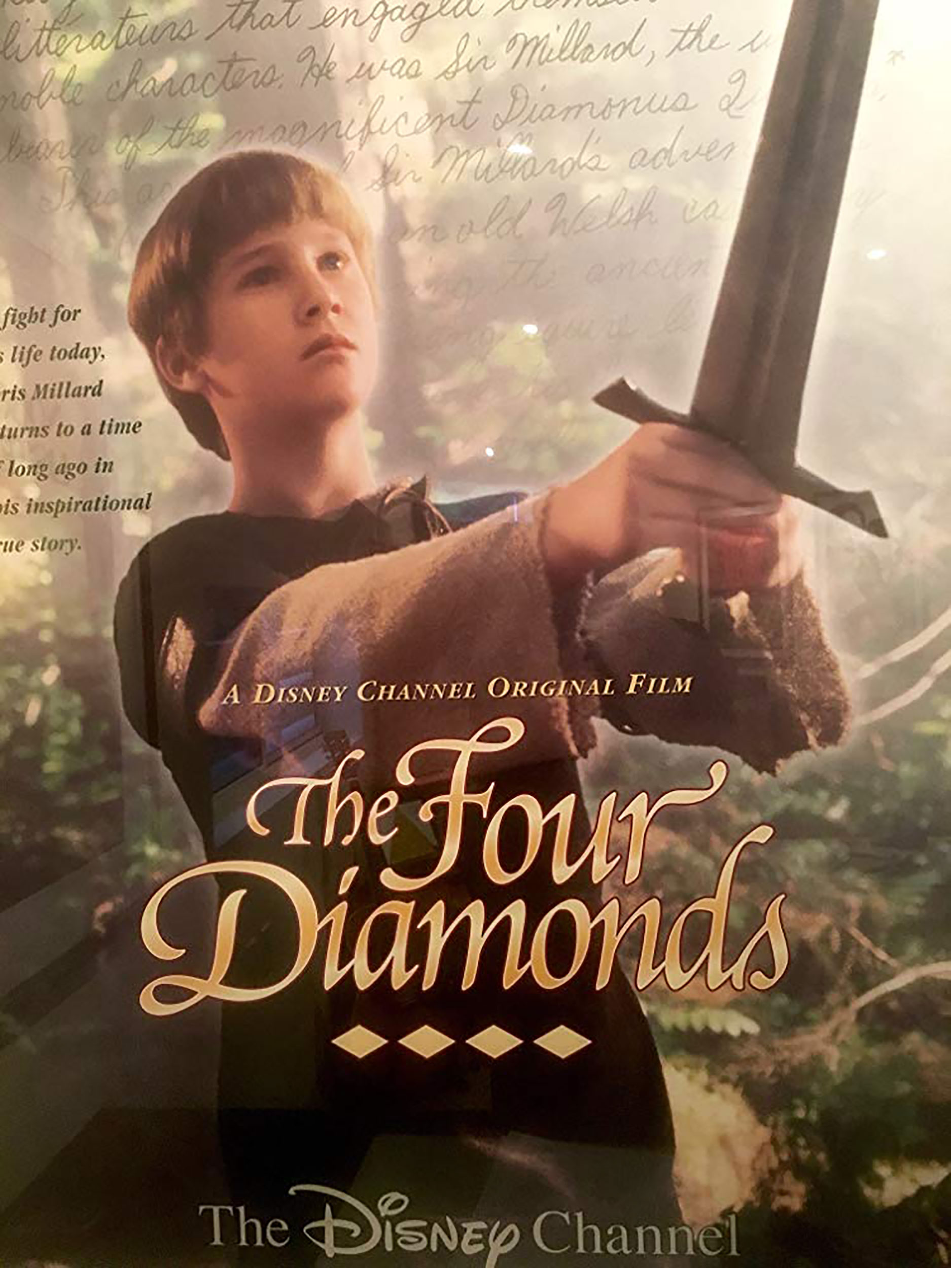 Affiche Poster intrépide chevalier millard four diamonds disney channel
