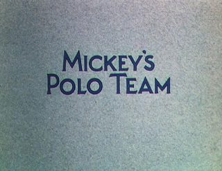 Affiche Poster mickey polo equipe team disney