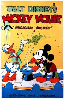Affiche Poster mickey magicien magician disney