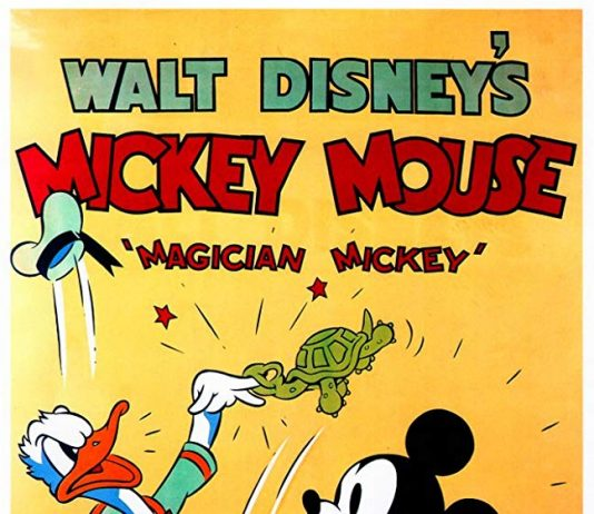 Affiche Poster mickey magicien magician disney