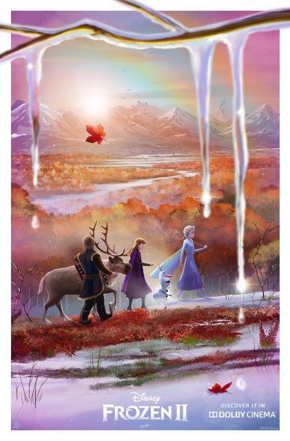 Affiche poster reine neiges frozen 2 disney