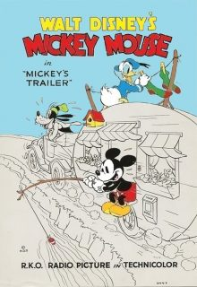 Affiche Poster remorque mickey trailer disney
