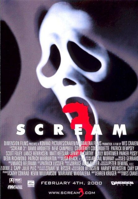 Affiche Poster scream 3 disney dimension