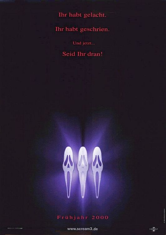Affiche Poster scream 3 disney dimension