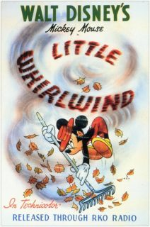 Affiche Poster tourbillon little whirlwind mickey disney