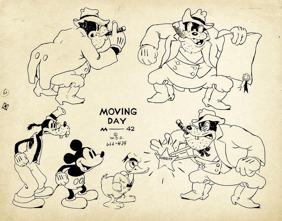 Artwork déménagement moving day mickey