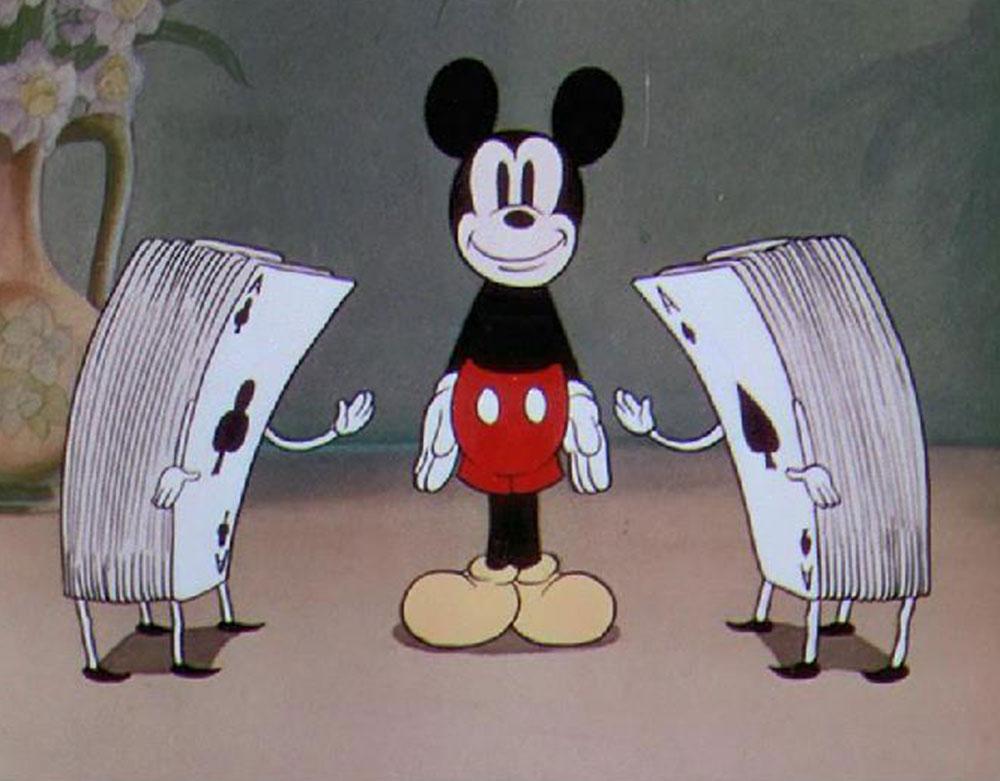 Image autre côté miroir thru mirror disney mickey