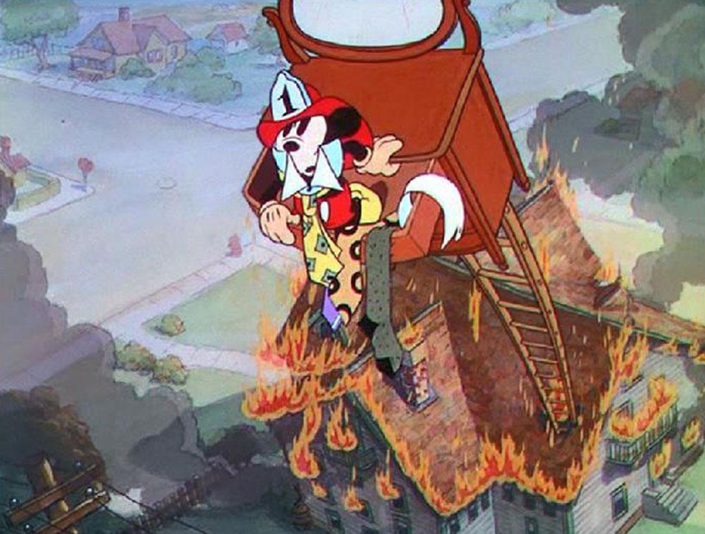 Image mickey pompier fire brigade disney