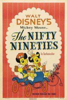 Affiche Poster années 90 nifty nineties disney mickey
