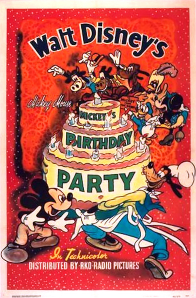 Affiche Poster anniversaire mickey birthday party disney