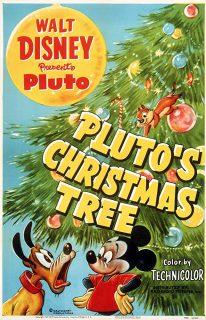 Affiche Poster arbre noel pluto christmas tree disney mickey