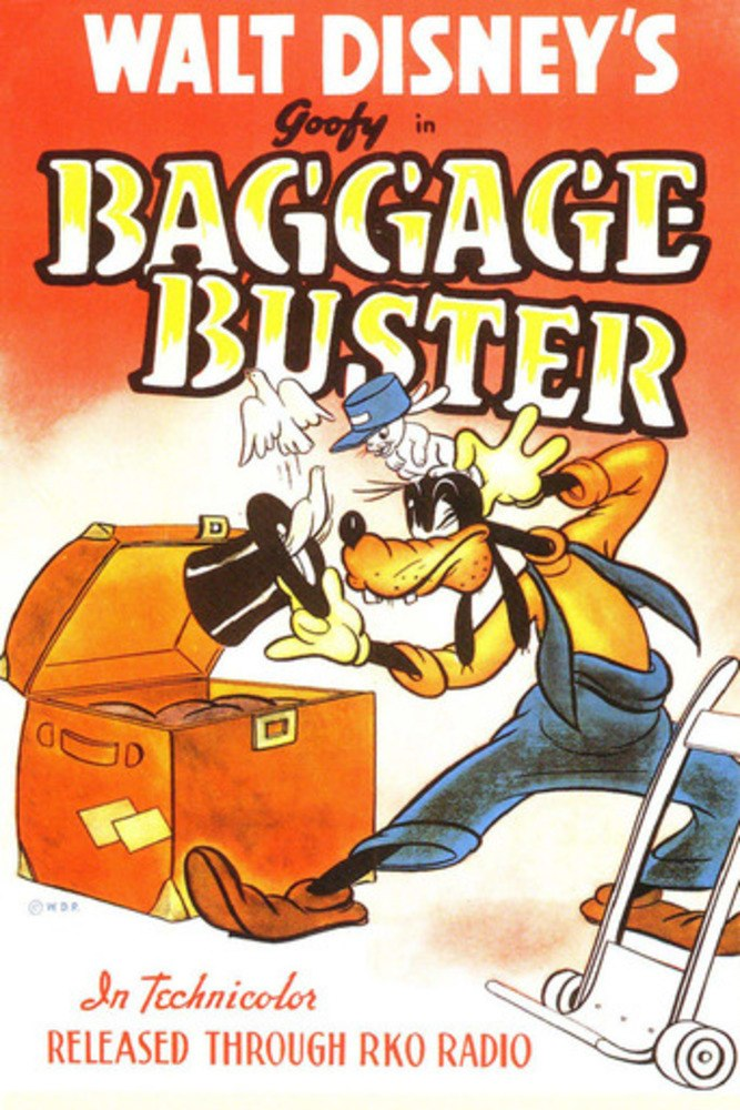 Affiche Poster attention fragile bagge buster dingo goofy disney