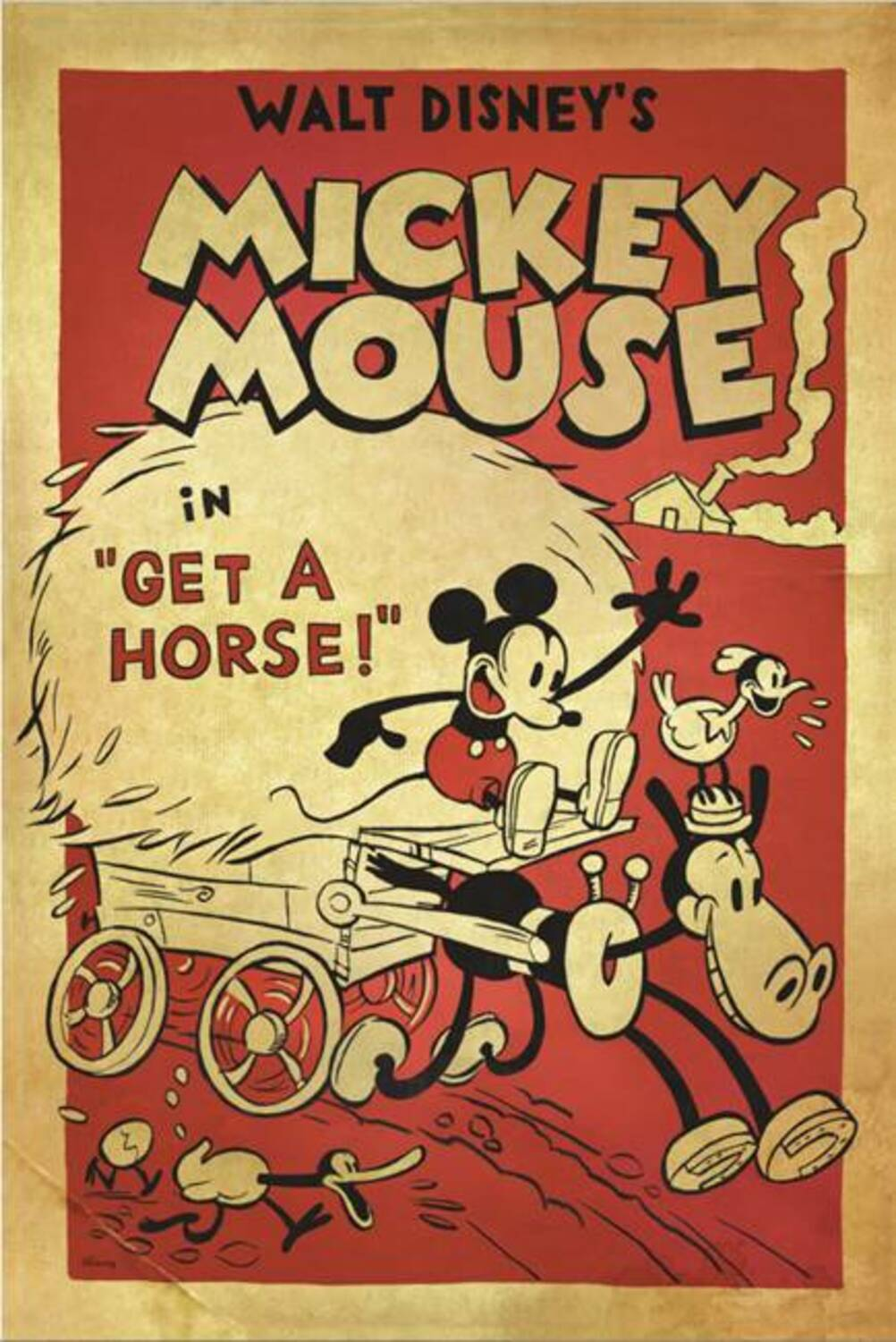 Affiche Poster cheval get horse mickey disney
