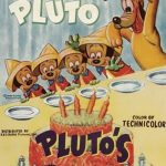 Affiche Poster fête pluto party disney mickey