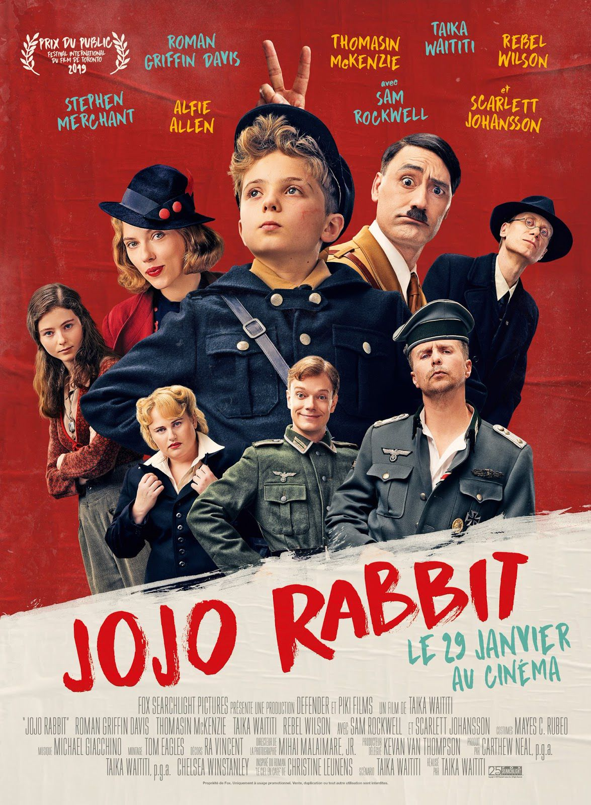 Affiche Poster jojo rabbit disney fox