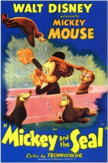 Affiche Poster mickey phoque seal disney