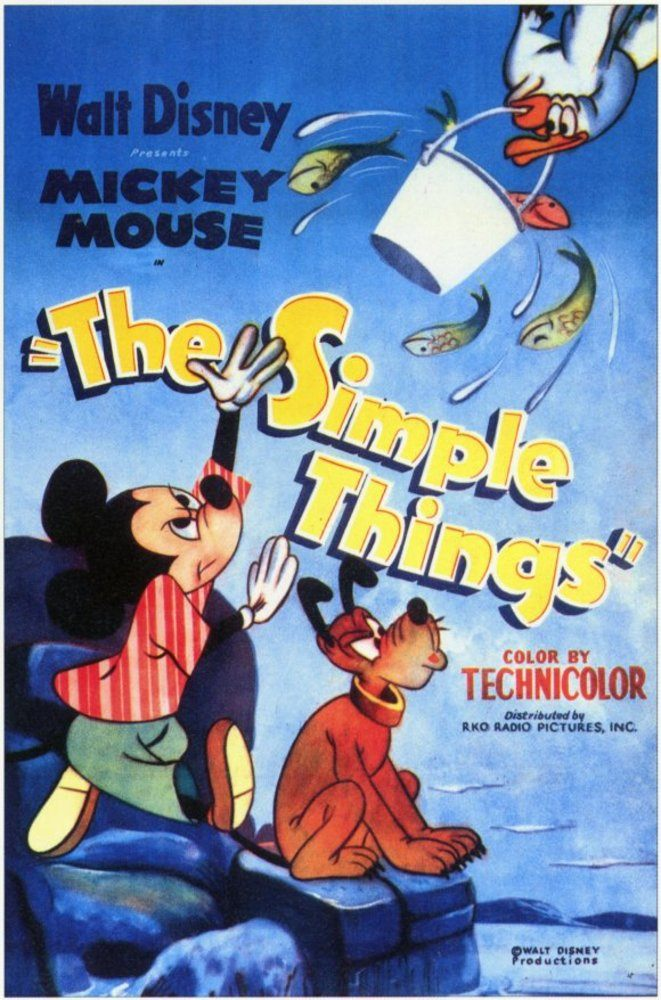 Affiche Poster mickey plage simple things disney