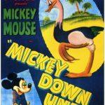 Affiche Poster mickey pluto autruche down under disney