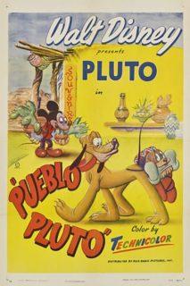 Affiche Poster mickey pluto mexique pueblo disney