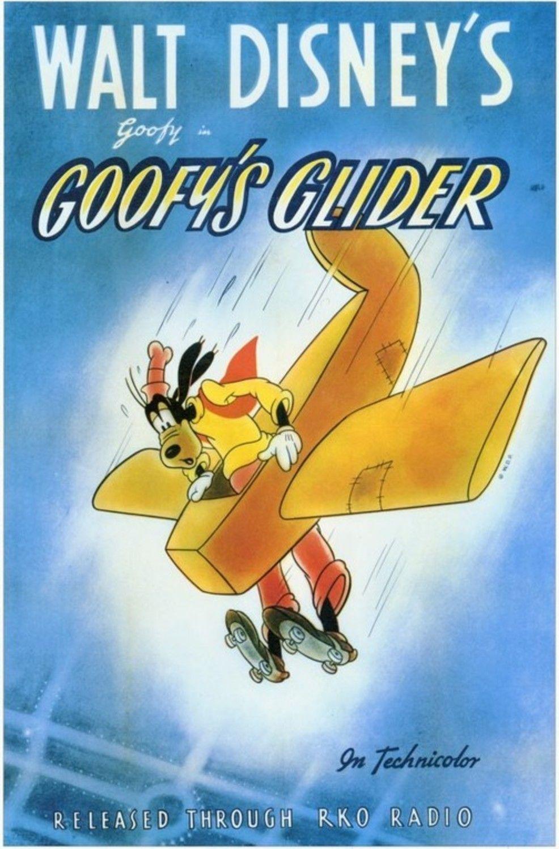 Affiche Poster planeur dingo goofy glider disney