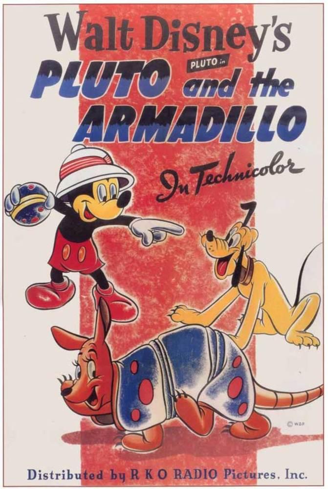 Affiche Poster pluto armadillo mickey disney