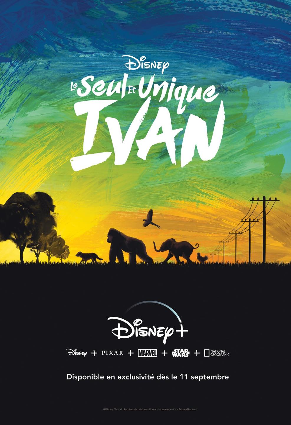 affiche poster seul unique ivan only one disney