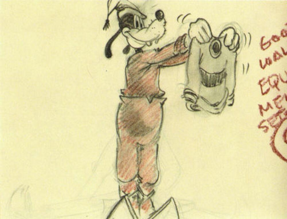 artwork lecon ski art skiing dingo goofy disney