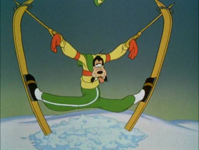 Image lecon ski art skiing dingo goofy disney
