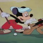 Image mickey pluto golfeurs canine caddy disney