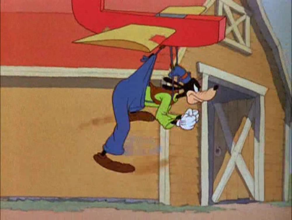 Image planeur dingo goofy glider disney